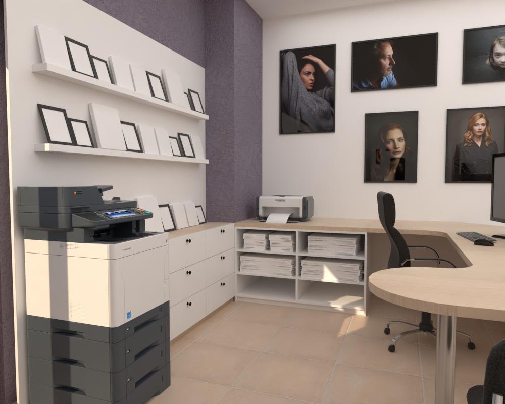 Grafické návrhy interiér 2020 - Grafický návrh zariadenia foto ateliéru v BB - obr.1