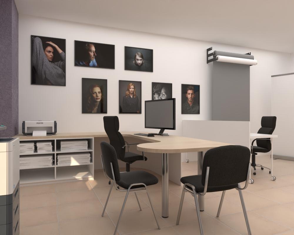 Grafické návrhy interiér 2020 - Grafický návrh zariadenia foto ateliéru v BB - obr.3