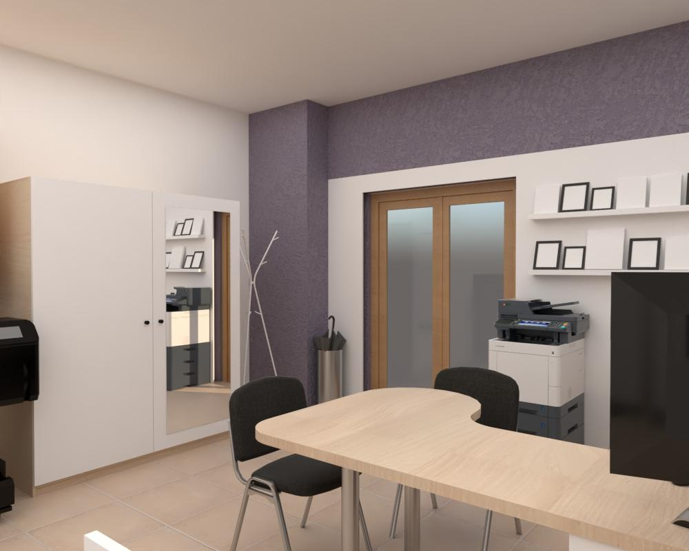 Grafické návrhy interiér 2020 - Grafický návrh zariadenia foto ateliéru v BB - obr.5