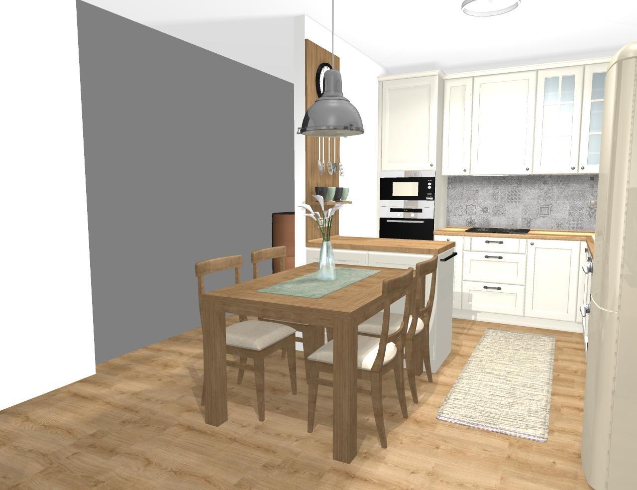 Grafické návrhy kuchynských liniek 2020 - Návrh kuchynskej linky do rodinného domu vo vidieckom štýle - obr.3