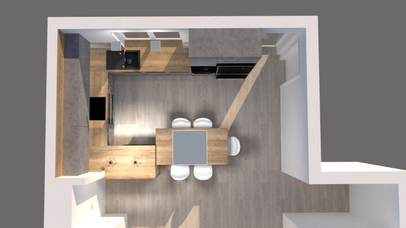 Grafické návrhy kuchynských liniek 2020 - Návrh kuchynskej linky do rodinného domu - verzia 1 - obr.5