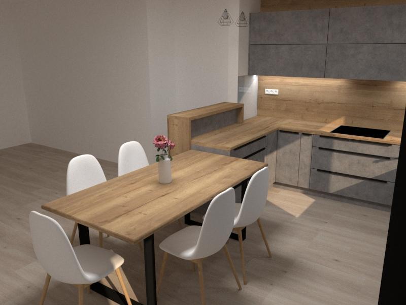 Grafické návrhy kuchynských liniek 2020 - Návrh kuchynskej linky do rodinného domu - verzia 1 - obr.2