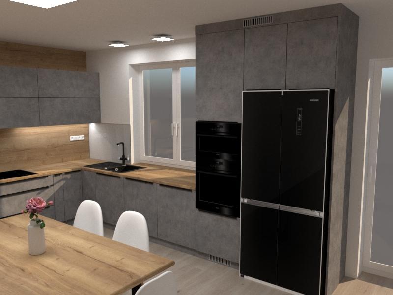 Grafické návrhy kuchynských liniek 2020 - Návrh kuchynskej linky do rodinného domu - verzia 1 - obr.4