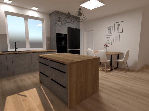 Grafické návrhy kuchynských liniek 2020 - Návrh kuchynskej linky do rodinného domu - verzia 2 - obr.3