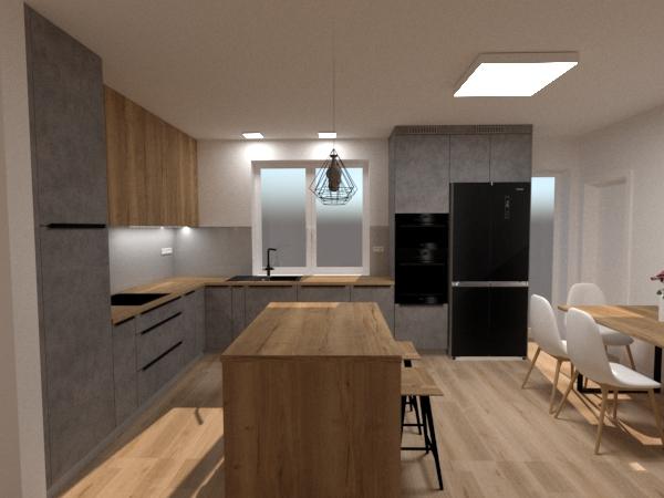 Grafické návrhy kuchynských liniek 2020 - Návrh kuchynskej linky do rodinného domu - verzia 2 - obr.4