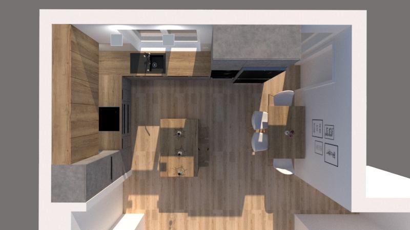 Grafické návrhy kuchynských liniek 2020 - Návrh kuchynskej linky do rodinného domu - verzia 2 - obr.5