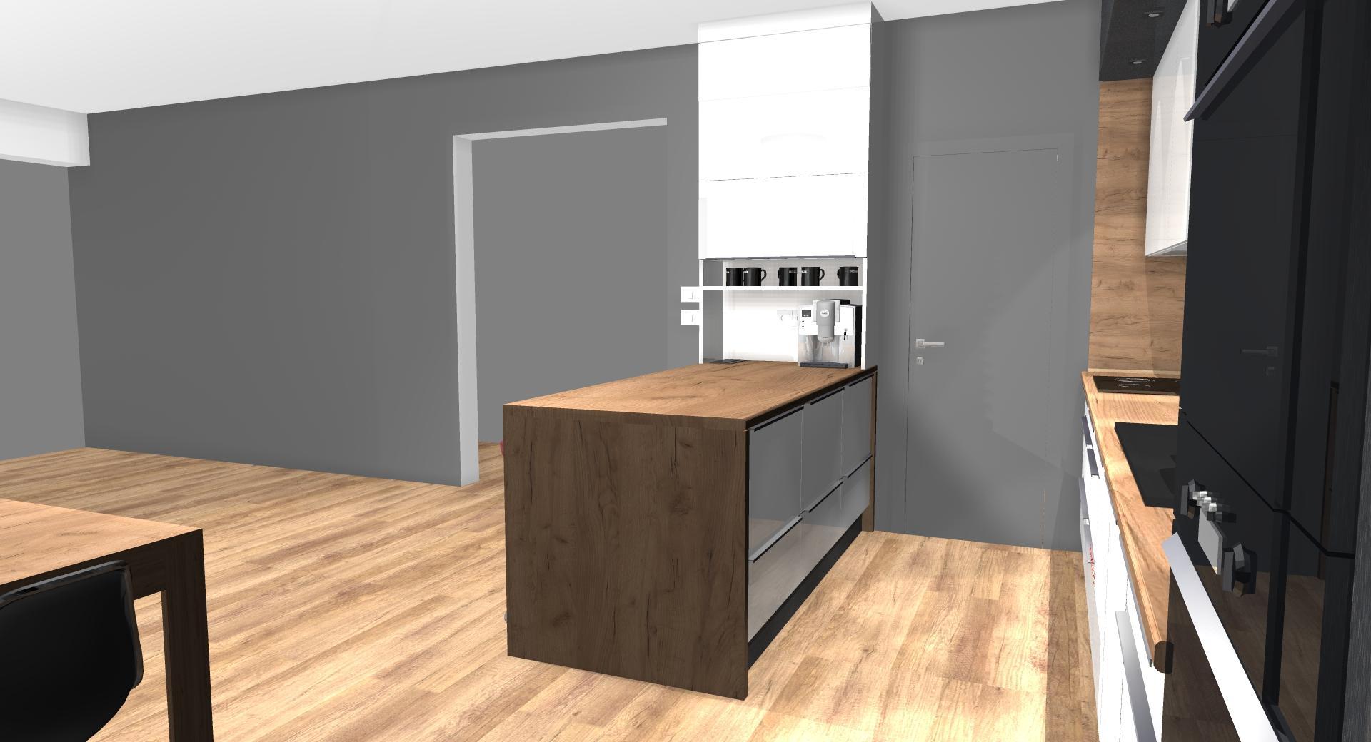 Grafické návrhy kuchynských liniek 2020 - Grafický návrh kuchynskej linky do rodinného domu v Zv - obr.5