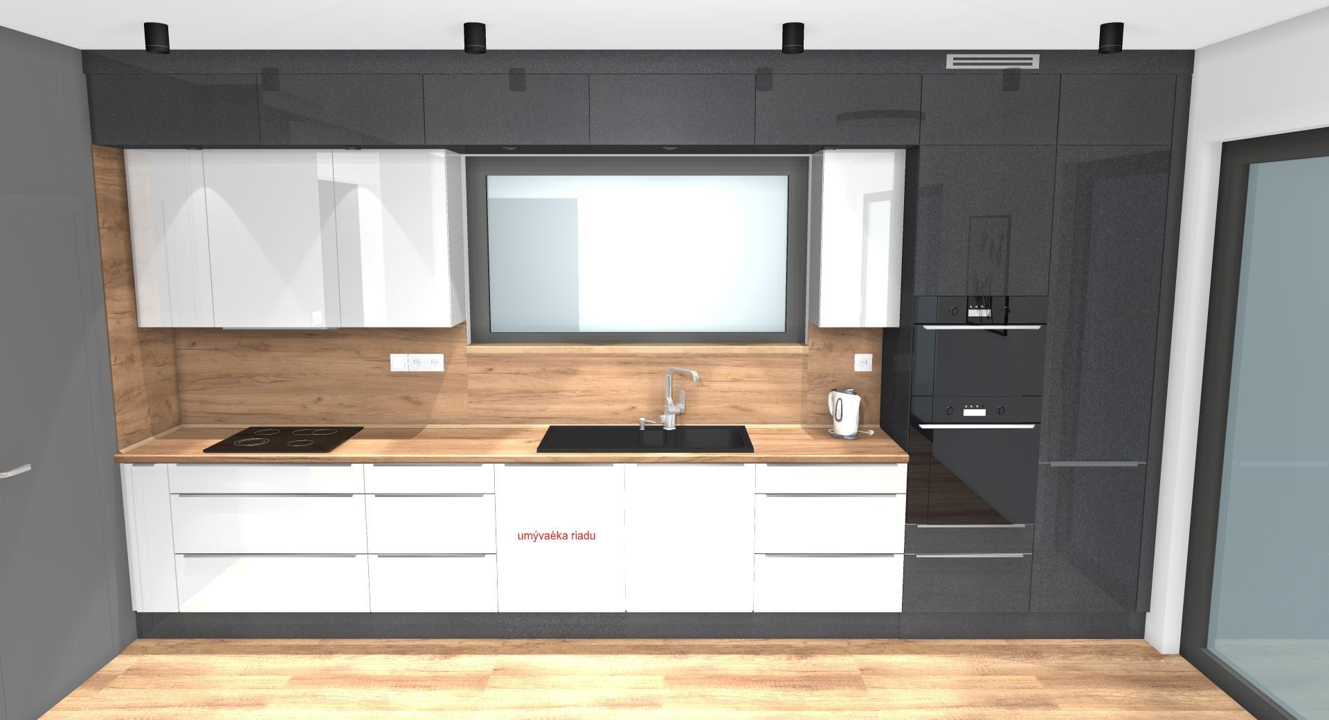 Grafické návrhy kuchynských liniek 2020 - Grafický návrh kuchynskej linky do rodinného domu v Zv - obr.4