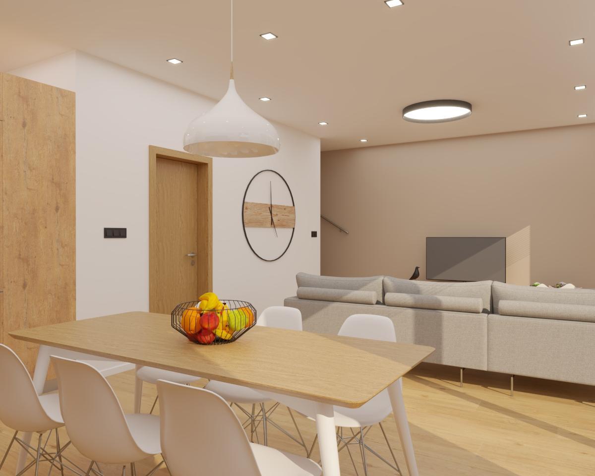 Grafické návrhy kuchynských liniek 2020 - Grafický návrh kuchyne spojenej s obývačkou do rodinného domu v BA - obr.6