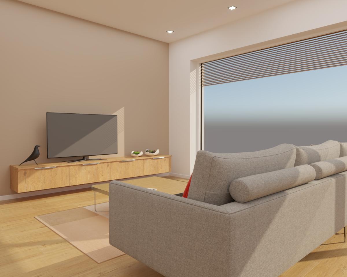 Grafické návrhy kuchynských liniek 2020 - Grafický návrh kuchyne spojenej s obývačkou do rodinného domu v BA - obr.7
