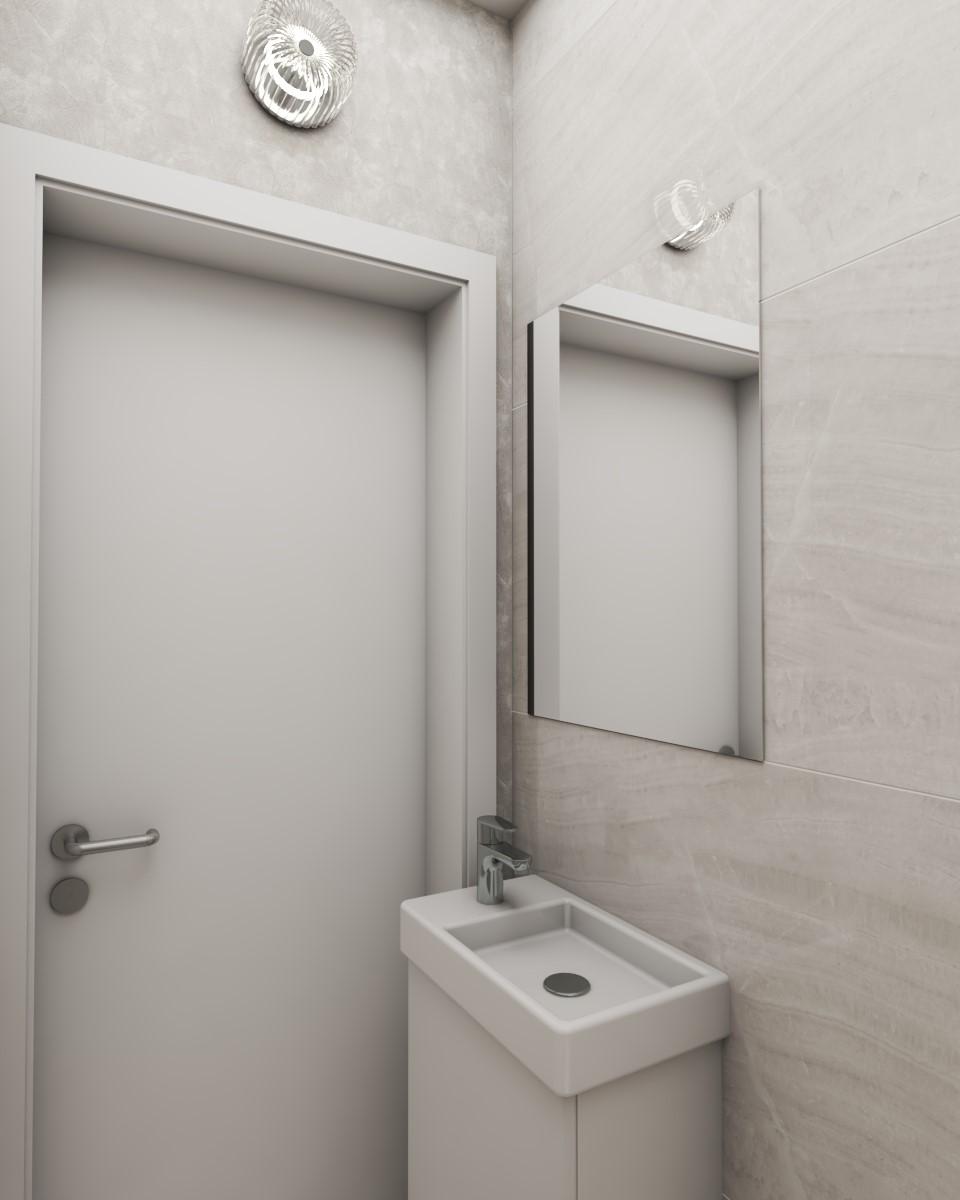 Grafické návrhy interiér 2020 - Grafický návrh kúpeľne a WC v paneláku - obr.5
