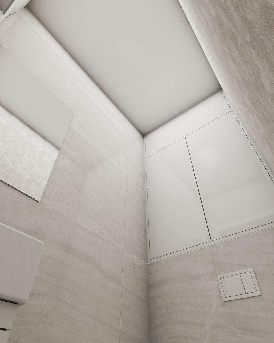 Grafické návrhy interiér 2020 - Grafický návrh kúpeľne a WC v paneláku - obr.7