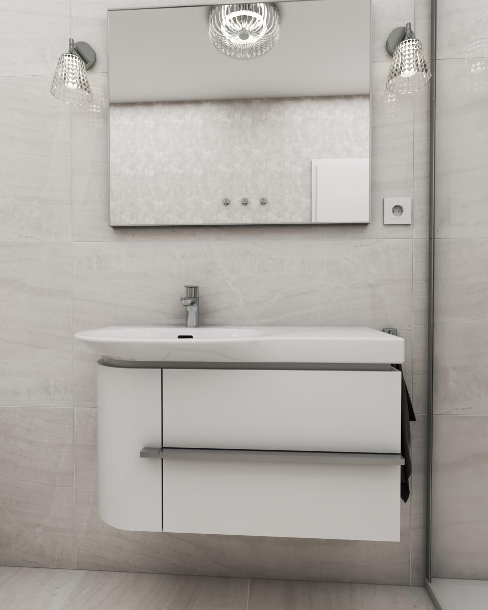 Grafické návrhy interiér 2020 - Grafický návrh kúpeľne a WC v paneláku - obr.2