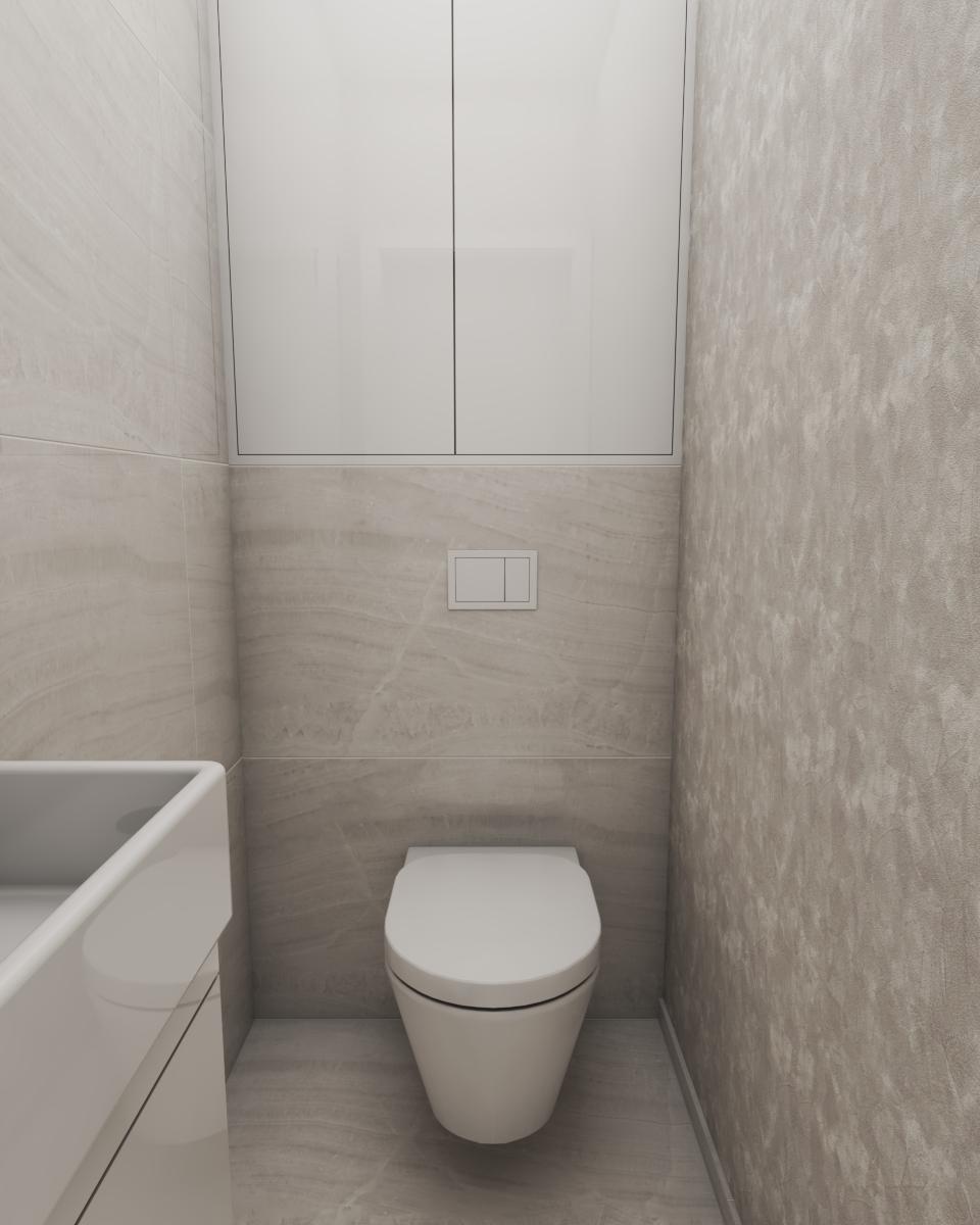 Grafické návrhy interiér 2020 - Grafický návrh kúpeľne a WC v paneláku - obr.6