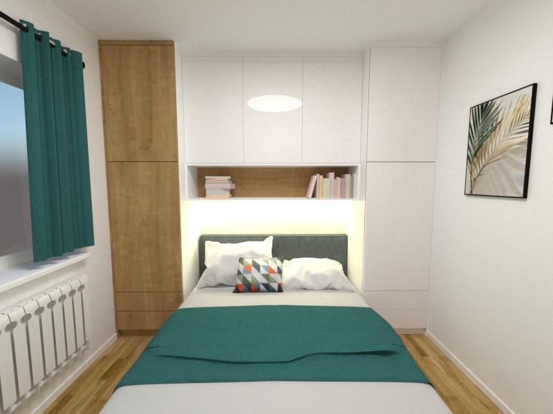 Grafické návrhy interiér 2020 - Grafický návrh spálne v paneláku v Šahách - obr.1