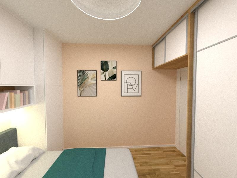 Grafické návrhy interiér 2020 - Grafický návrh spálne v paneláku v Šahách - obr.5