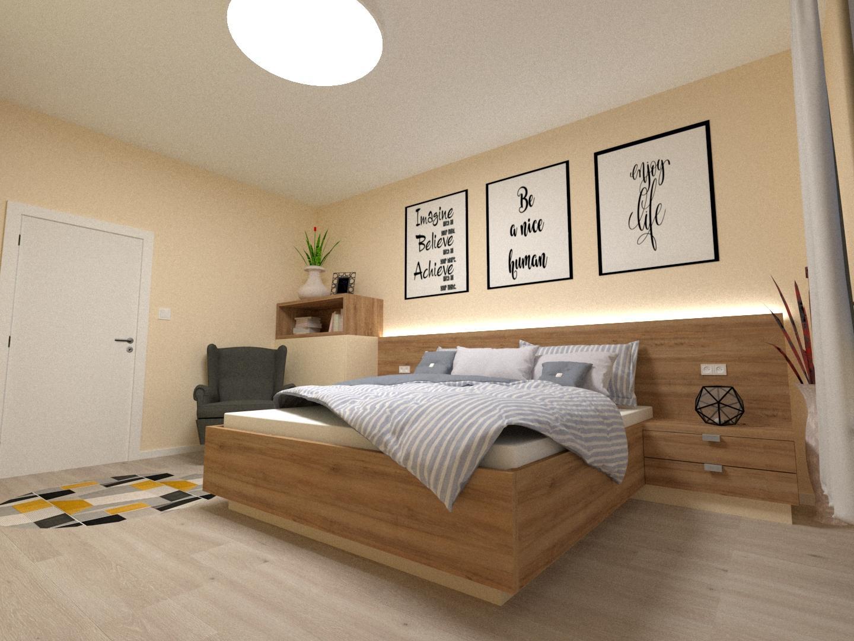 Grafické návrhy interiér 2020 - Grafický návrh spálne v rodinnom dome v Sáse- obr.3