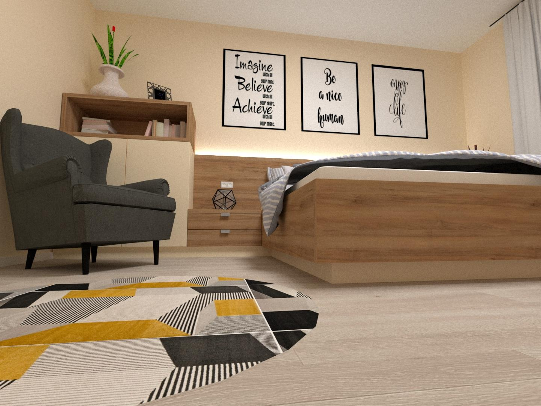 Grafické návrhy interiér 2020 - Grafický návrh spálne v rodinnom dome v Sáse- obr.6