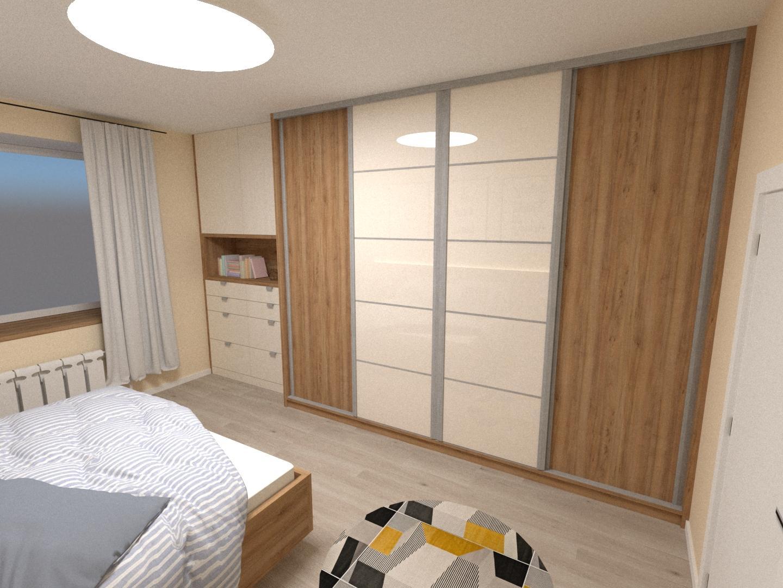 Grafické návrhy interiér 2020 - Grafický návrh spálne v rodinnom dome v Sáse- obr.5