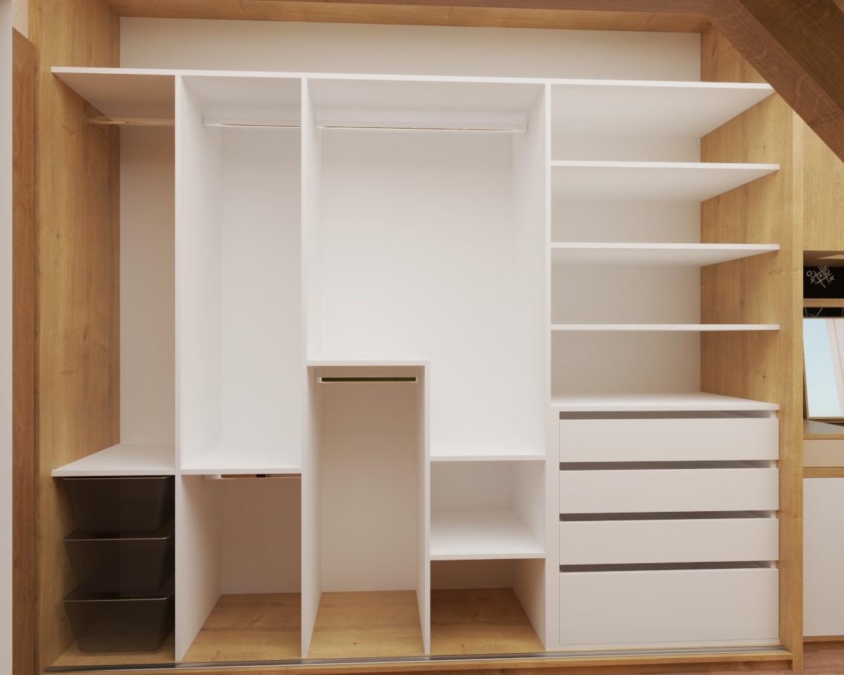 Grafické návrhy interiér 2020 - Grafický návrh študentskej izby do rodinného domu - obr.7