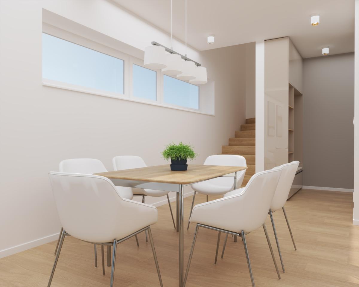 Grafické návrhy bytov a domov - Grafický návrh kuchyne spojenej s obývačkou a vstupnej chodby do rodinného domu v BA - obr.5