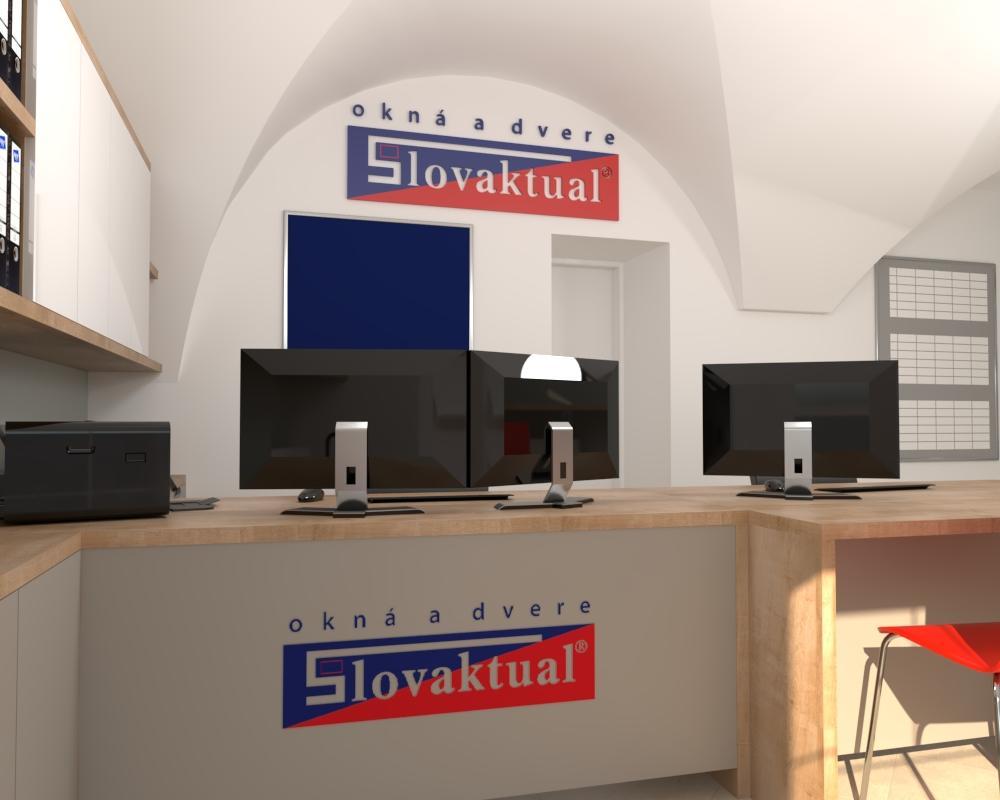 Grafické návrhy interiér 2021 - Grafický návrh kancelárie Slovaktual v BB - obr.3