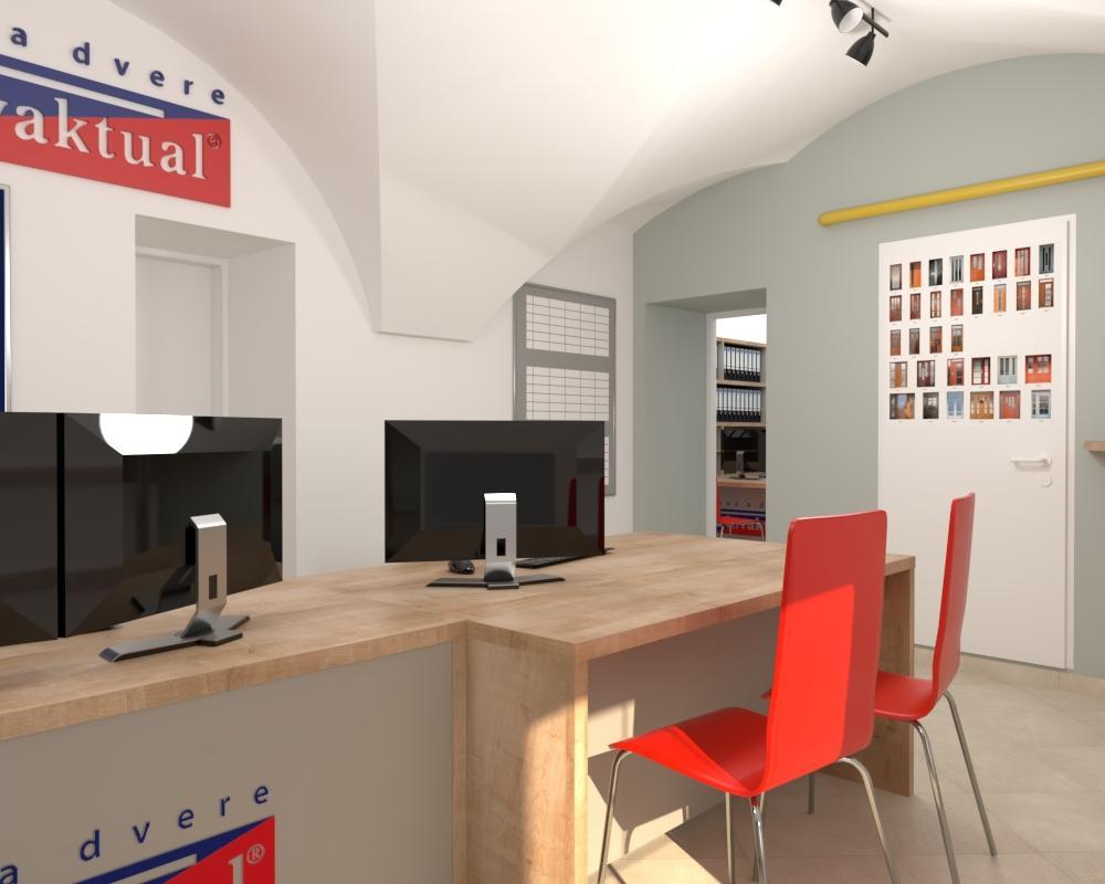 Grafické návrhy interiér 2021 - Grafický návrh kancelárie Slovaktual v BB - obr.2