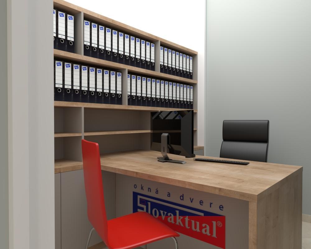 Grafické návrhy interiér 2021 - Grafický návrh kancelárie Slovaktual v BB - obr.7