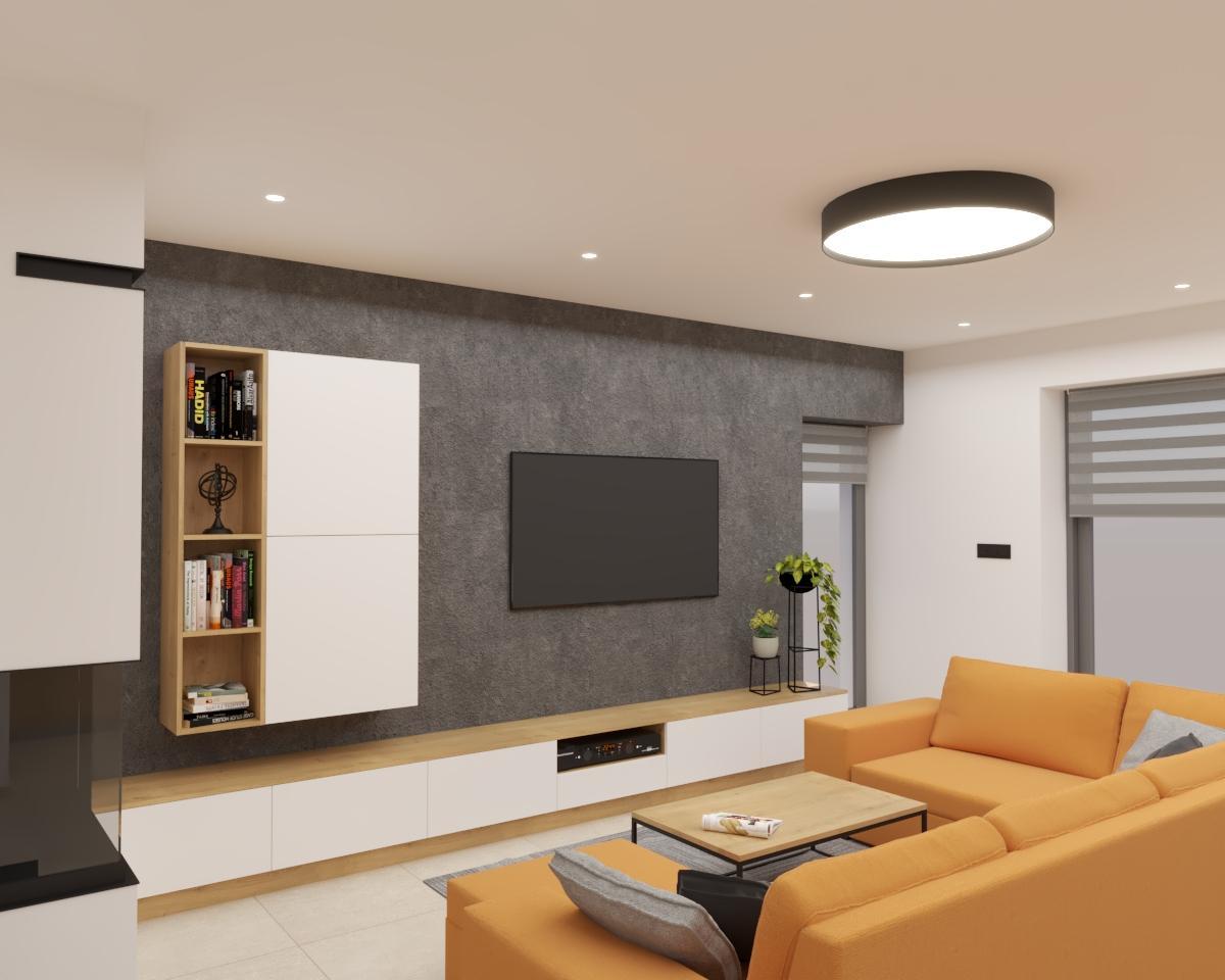 Grafické návrhy kuchynských liniek 2021 - Grafický návrh kuchyne spojenej s obývačkou v rodinnom dome-obr.5