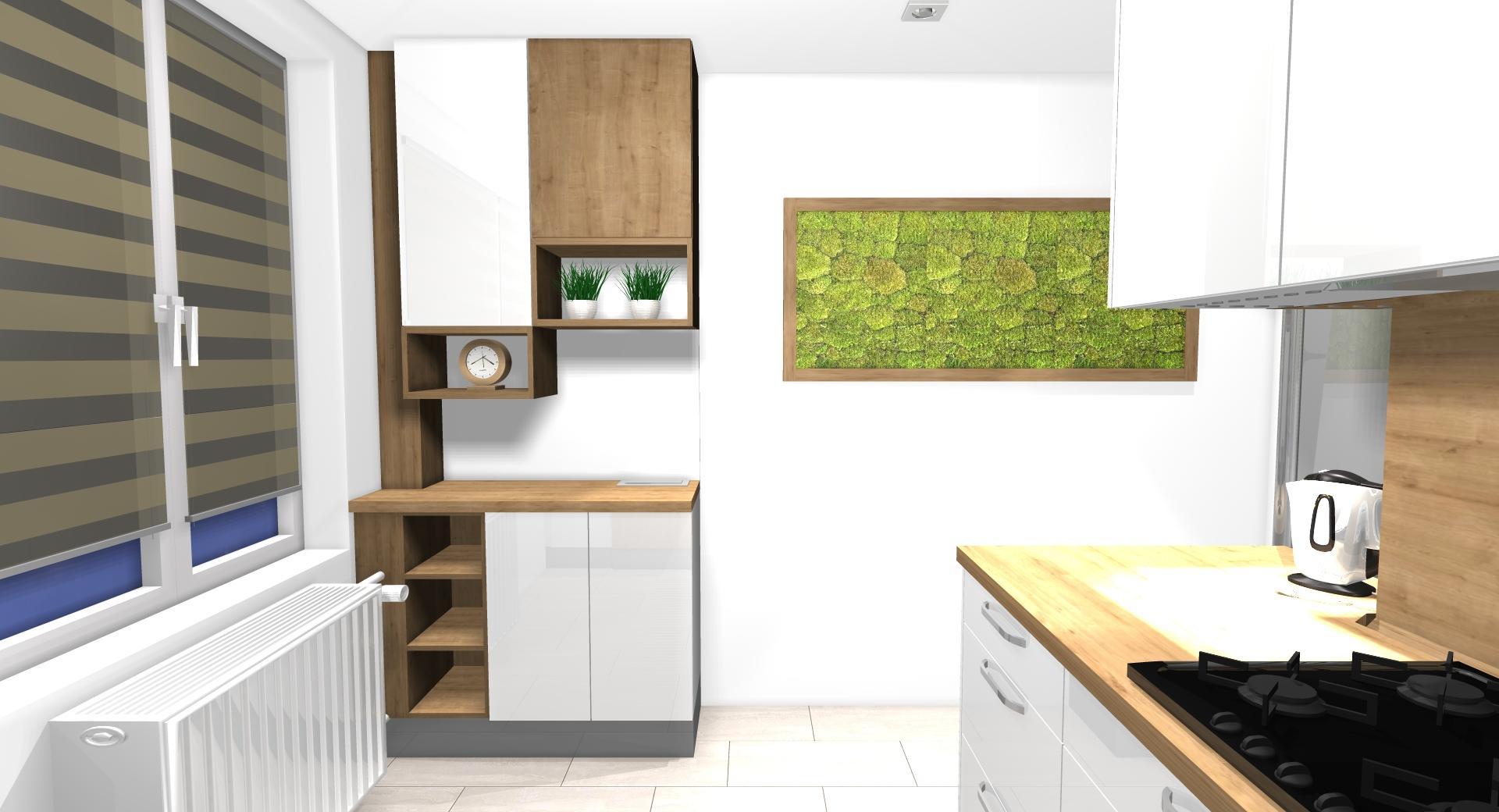 Grafické návrhy kuchynských liniek 2021 - Návrh atypickej kuchyne do paneláku vo Zvolene - obr.7