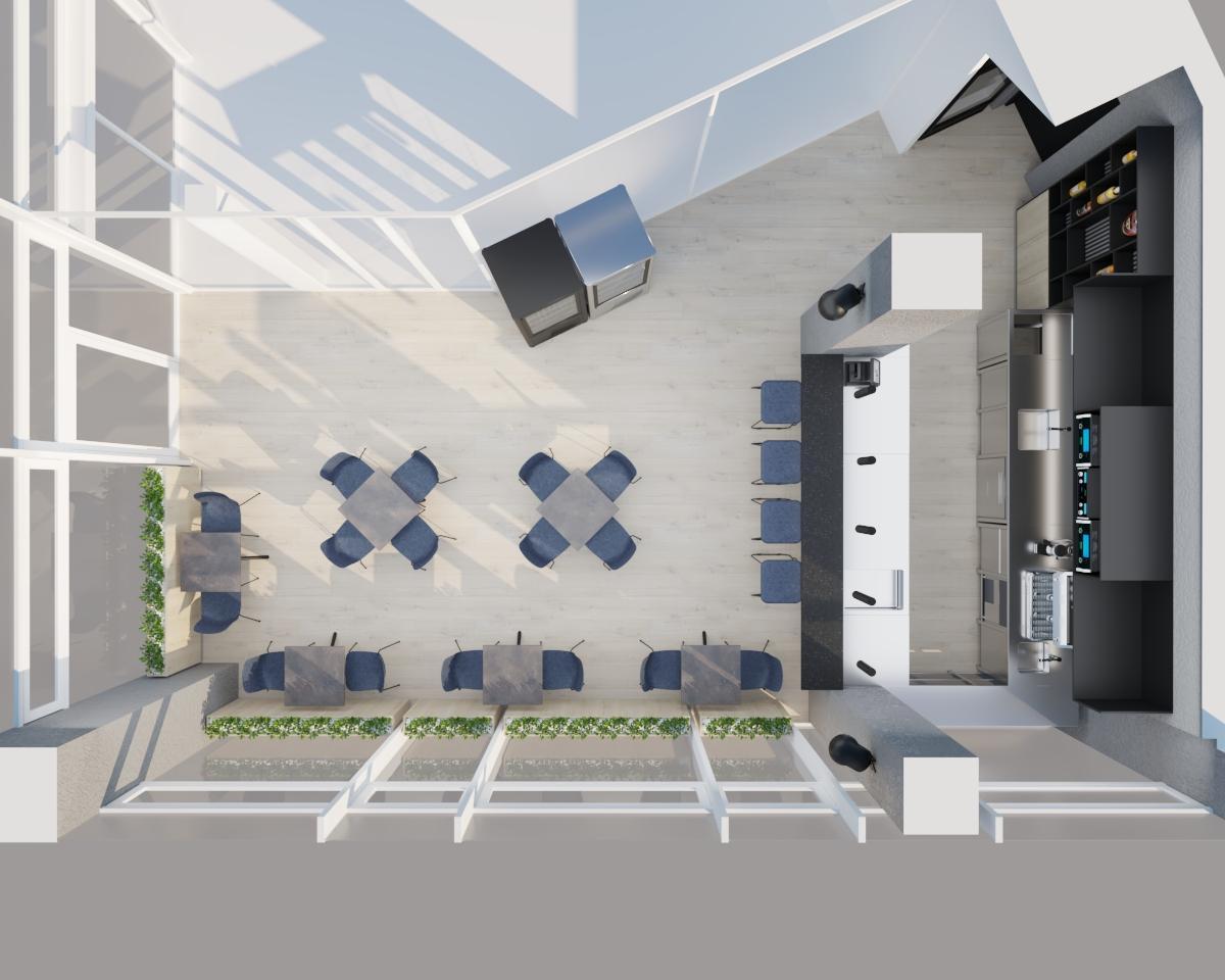 Grafické návrhy interiér 2021 - Grafický návrh kaviarne Bisaudio v BB - obr.9