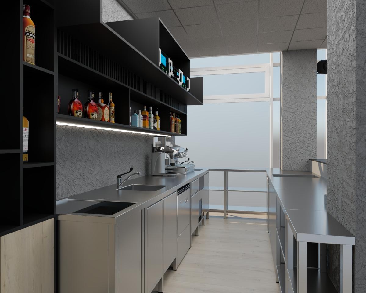Grafické návrhy interiér 2021 - Grafický návrh kaviarne Bisaudio v BB - obr.3