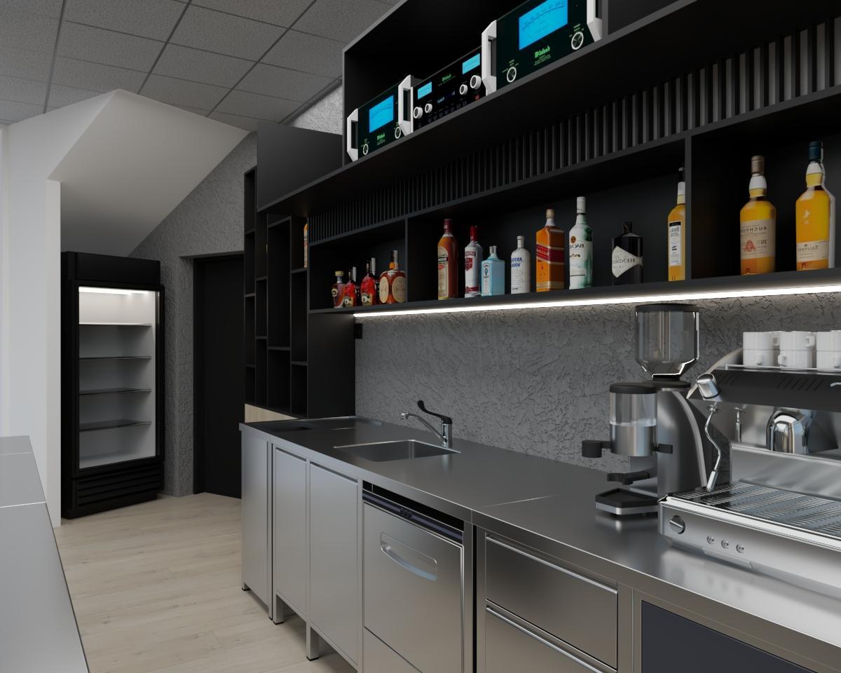 Grafické návrhy interiér 2021 - Grafický návrh kaviarne Bisaudio v BB - obr.5