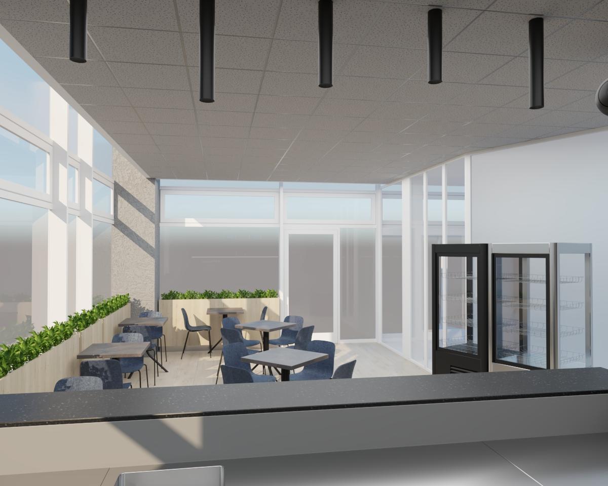 Grafické návrhy interiér 2021 - Grafický návrh kaviarne Bisaudio v BB - obr.8
