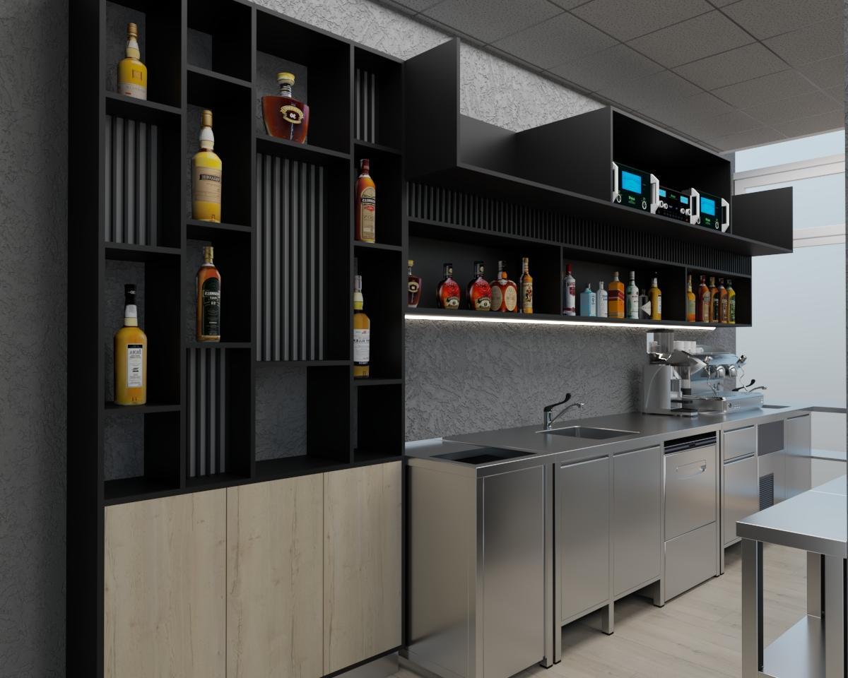 Grafické návrhy interiér 2021 - Grafický návrh kaviarne Bisaudio v BB - obr.4