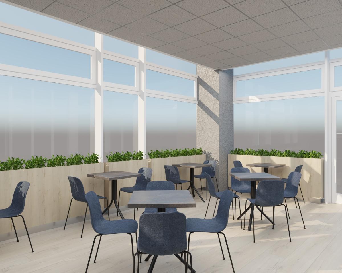 Grafické návrhy interiér 2021 - Grafický návrh kaviarne Bisaudio v BB - obr.7