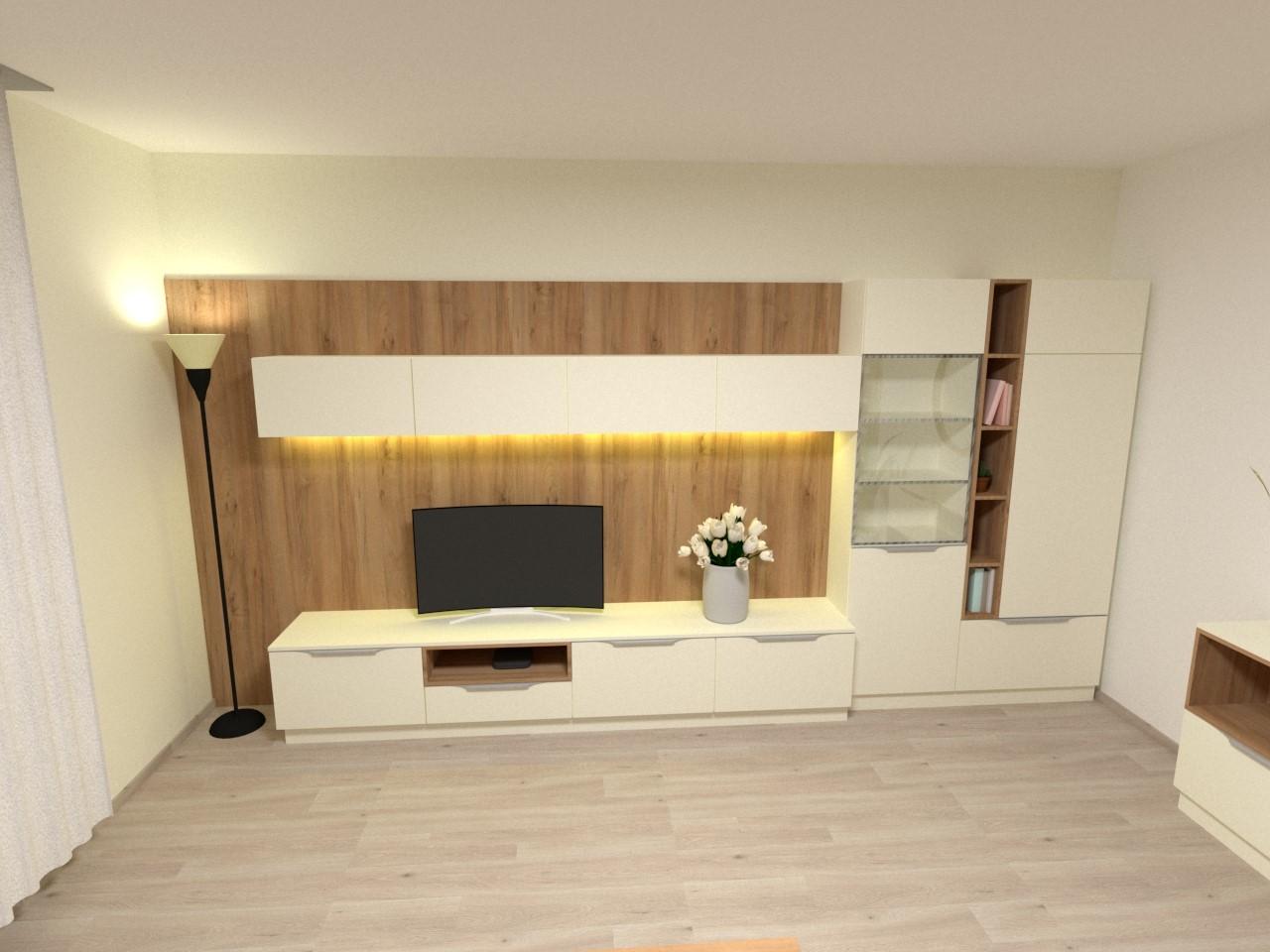 Grafické návrhy interiér 2021 - Grafický návrh obývačky v rodinnom dome v Sáse- obr.7