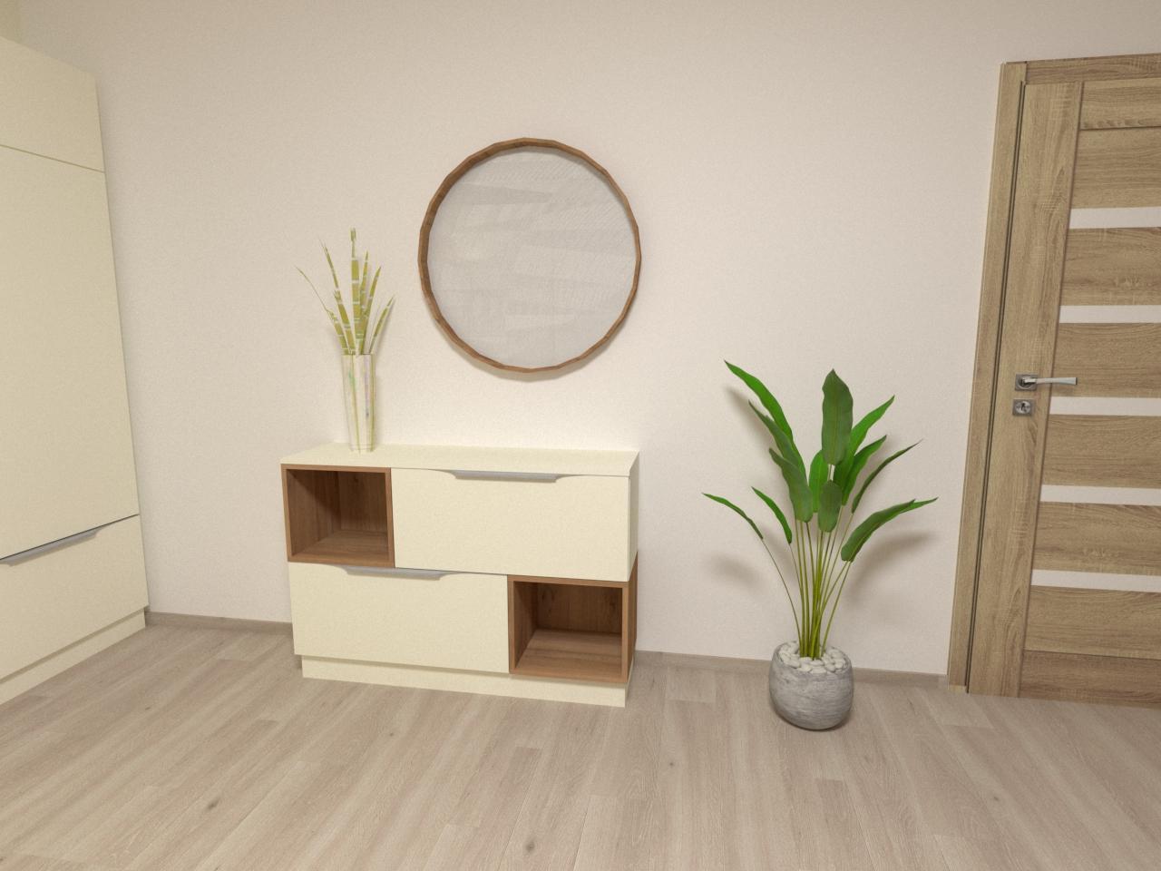 Grafické návrhy interiér 2021 - Grafický návrh obývačky v rodinnom dome v Sáse- obr.3