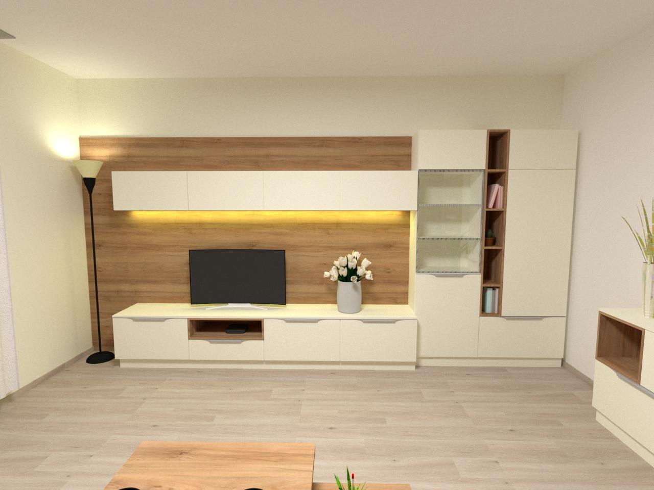 Grafické návrhy interiér 2021 - Grafický návrh obývačky v rodinnom dome v Sáse- obr.4