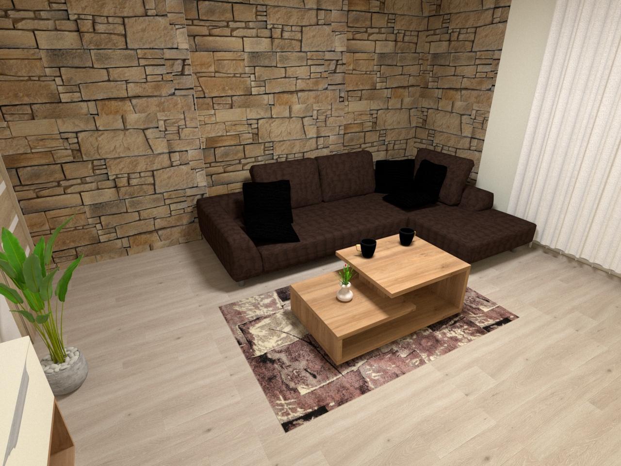 Grafické návrhy interiér 2021 - Grafický návrh obývačky v rodinnom dome v Sáse- obr.6