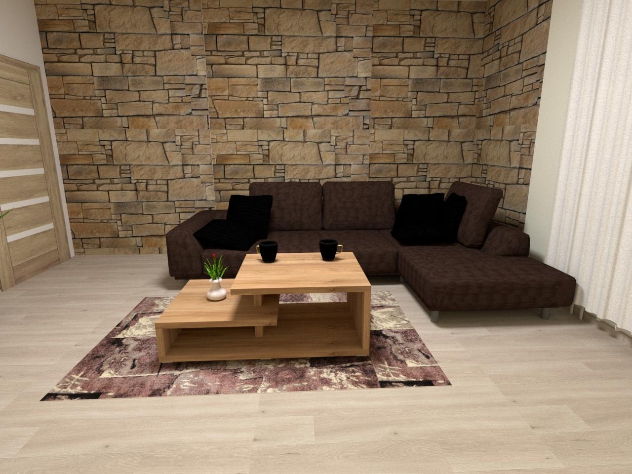 Grafické návrhy interiér 2021 - Grafický návrh obývačky v rodinnom dome v Sáse- obr.5