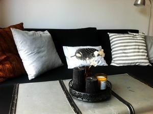 polštář ze starého svetru a doplňky z milovaného HM Home...