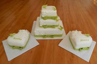 Takhle krásný dortík nám upekla Monča......