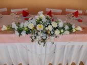 Svadobná ikebana na stôl,