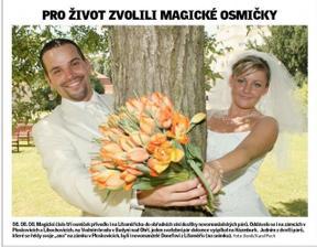 tato fotečka byla dne 9.8.2008 zveřejněna v DENÍKU LITOMĚŘICKA (ikdyž to nevypadá, na této fotce jsem opravdu střízlivá :-)))