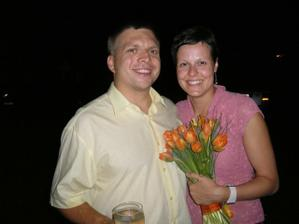 Janička chytla kytičku...že by další svatba? :-)