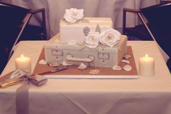 cestovatelska svadobna torta
