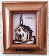 darcek, ktory sme dostali od mazelovej maminy... obraz kaplnky, v ktorej sme mali sobas :)