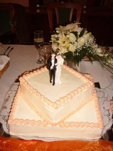 Detaily zo svadby - hlavna torta