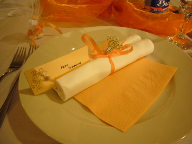 Detaily zo svadby - nase prestieranie
